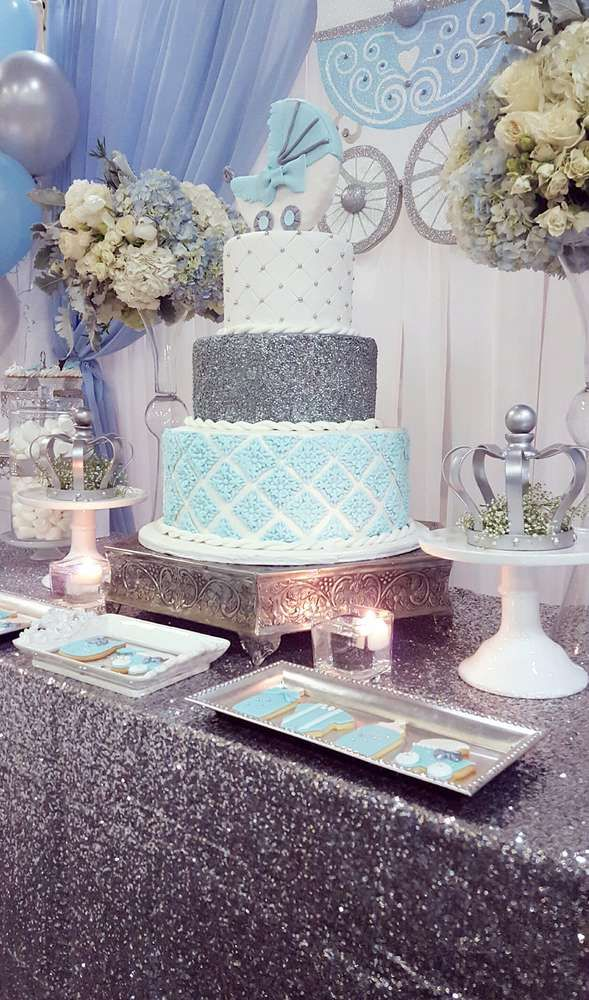 Royal glam baby shower party! See more party planning ideas at CatchMyParty.com!