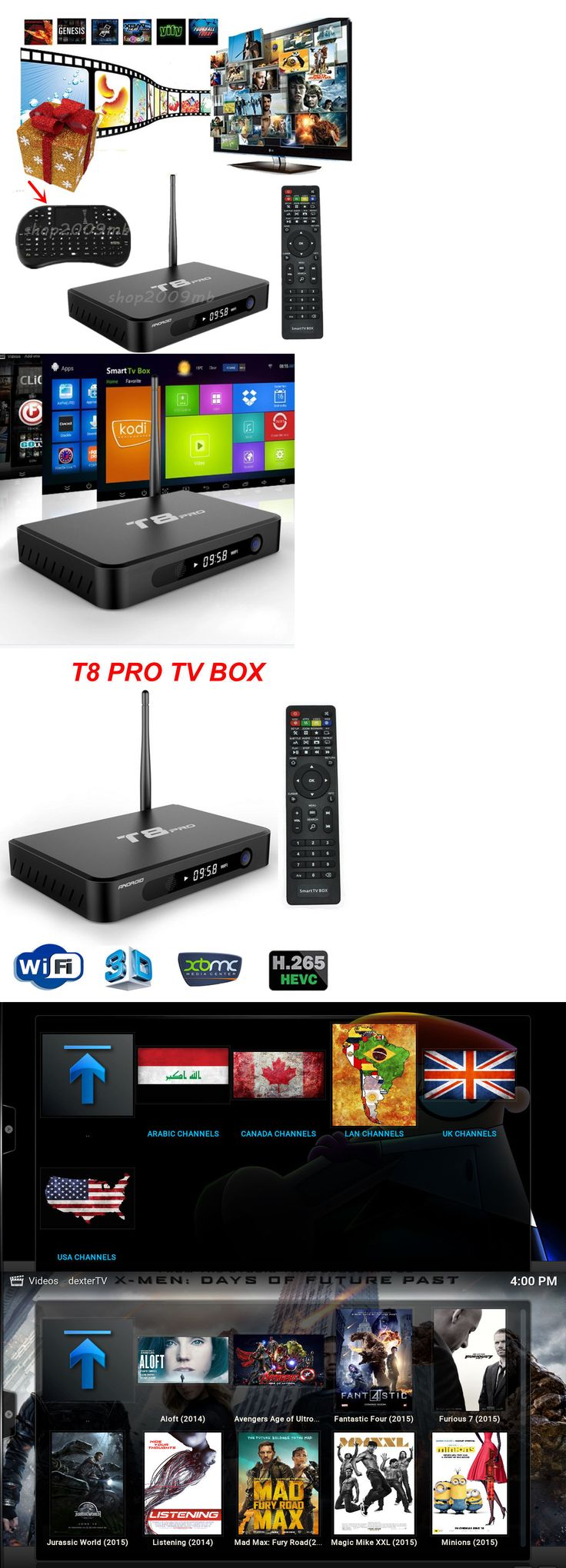 Cable TV Boxes: New T8pro Amlogic S812 Android 5.1 Kitkat Quad Core Android Tv Box Fully Loaded BUY IT NOW ONLY: $85.99
