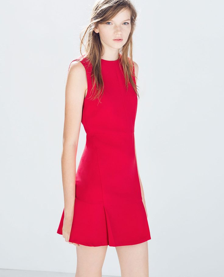 Zara red dress - Fashion scraps - Pinterest - Zara- Red and Dresses