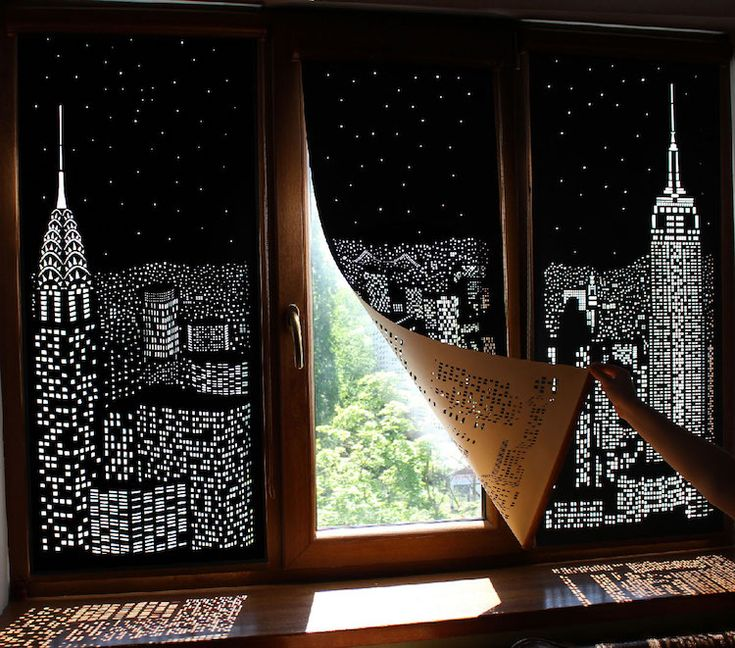 Ukrainian designers HoleRoll have created unique window blinds that double as spectacular works of shadow art and depict glittering cityscapes.