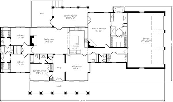 Southern living house plan for House plans mother in law suite