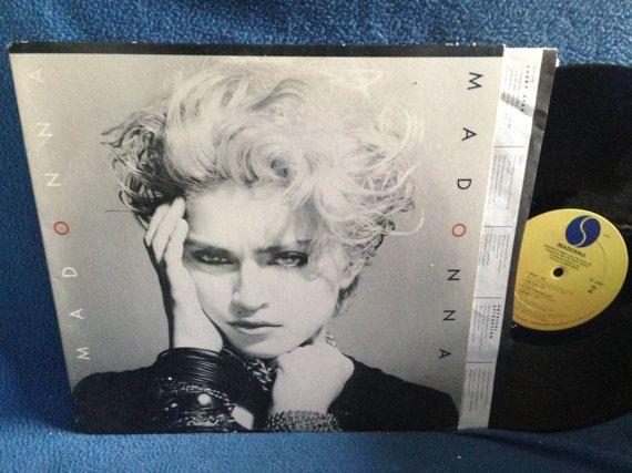 Vintage Madonna  Madonna Self Titled Vinyl LP by sweetleafvinyl