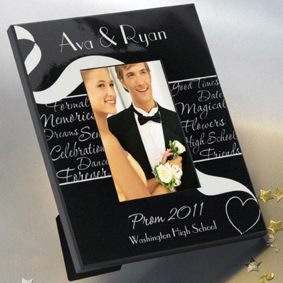 Personalized picture frames prom frame monogrammed customized monogram engraved custom photo pictures ideas RR11396