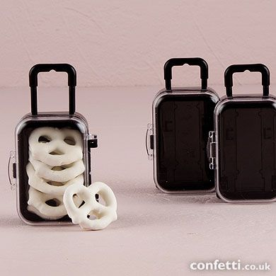 Miniature Travel Trolley with Wheels and Retractable Handle Ideal for the Wanderlust theme http://www.confetti.co.uk/shop/theme/wanderlust-travel