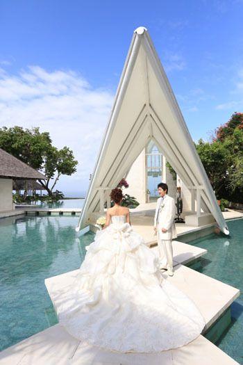 海外ウェディング バリ ドレスは「オパール」のデザイン変更♡