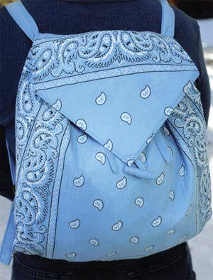 42 Creative Ways to Craft with Bandanas. cute travel bag