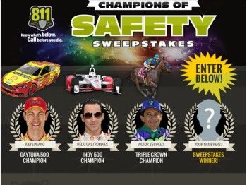 """The Common Ground Alliance """"Champions of Safety"""" Sweepstakes"""