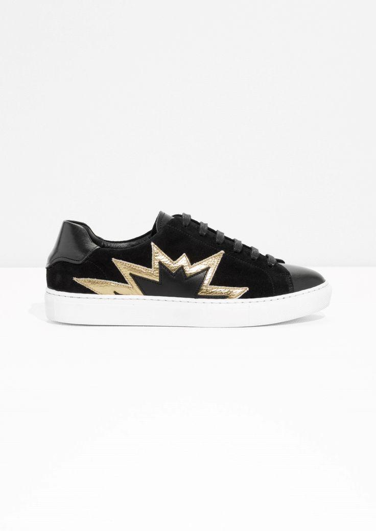 & Other Stories | Star Burst Sneaker | Black