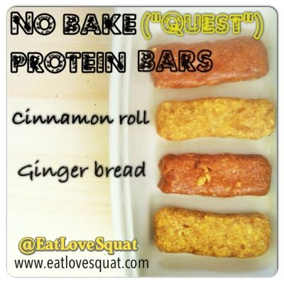 Ripped Recipes - No Bake Cinnamon Roll Protein Bar - This is a no bake high protein bar inspired by the cinnamon roll quest bar!