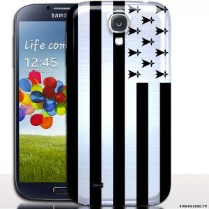 Coque pour samsung galaxy s 4 drapeau Breton / Housse rigide Bretagne. #SamsungS4 #Coque  #Bretagne #BZH