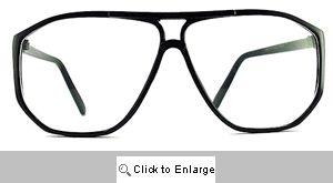 MIT Clear Lens Aviator Glasses - 278 Black