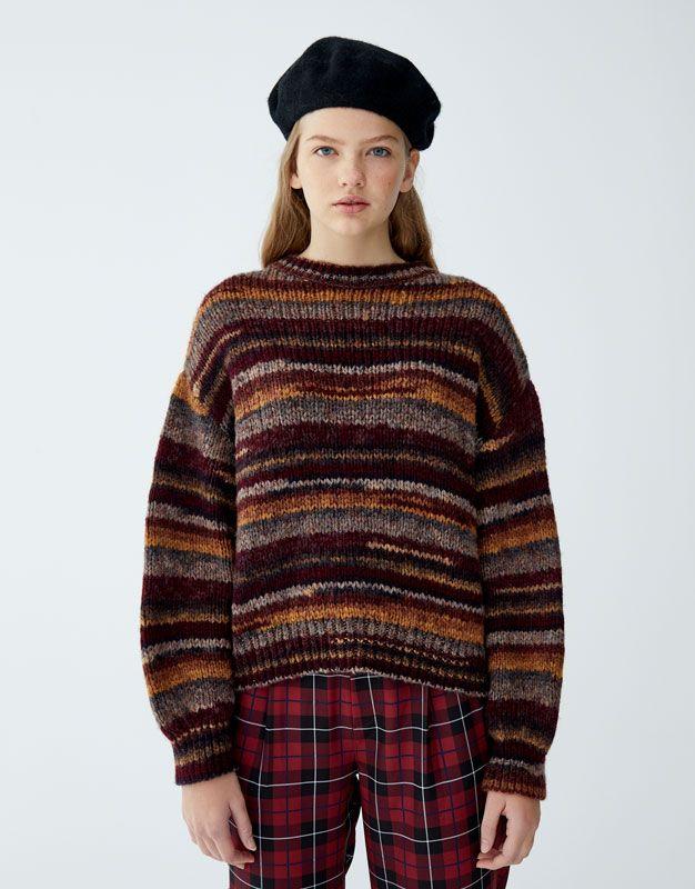 514a795c6a55 Ombré-effect knit sweater - pull bear
