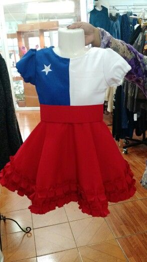 Vestido huasita chilena