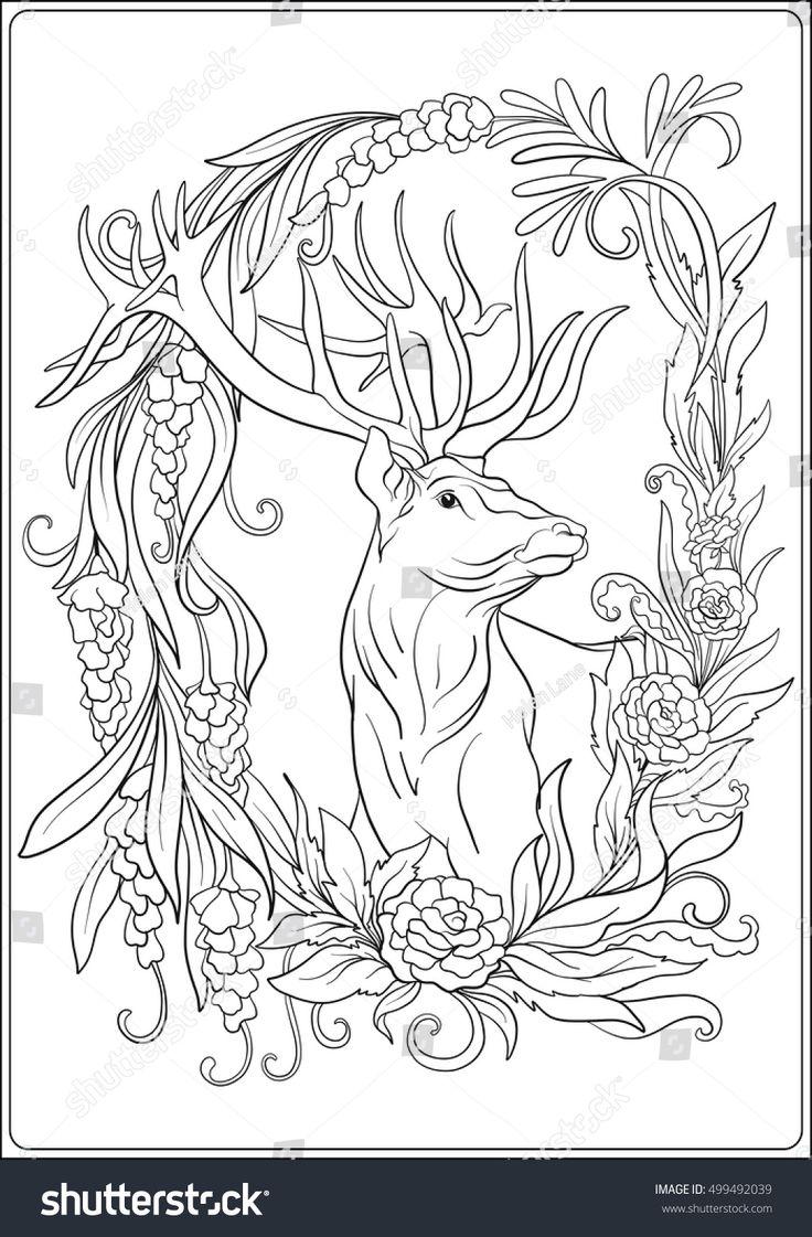 488 best folk art drawings images on Pinterest | Coloring books ...