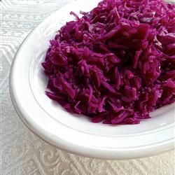 Danish Red Cabbage Allrecipes.com was a hit with MIL @ dinner. Served with pork chops and baked apples