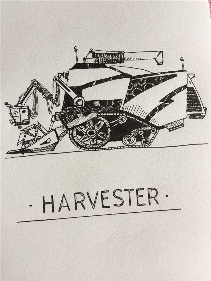 Monster Harvester #harvester #tinymachinery #machine