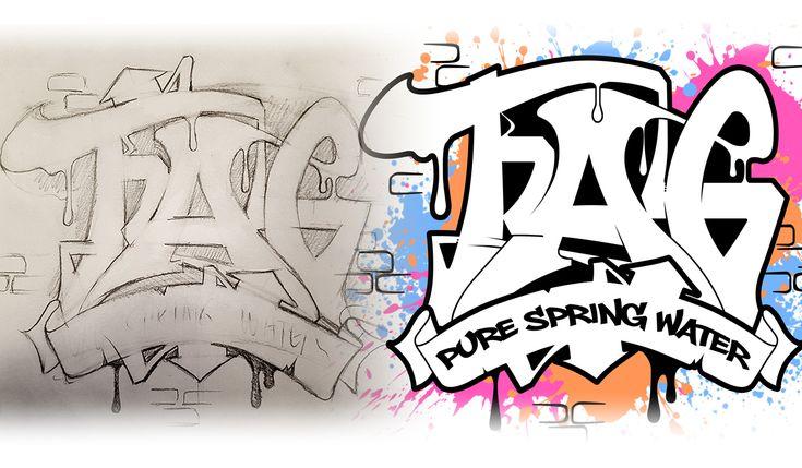 Custom Graffiti Illusration for a bottled water company.
