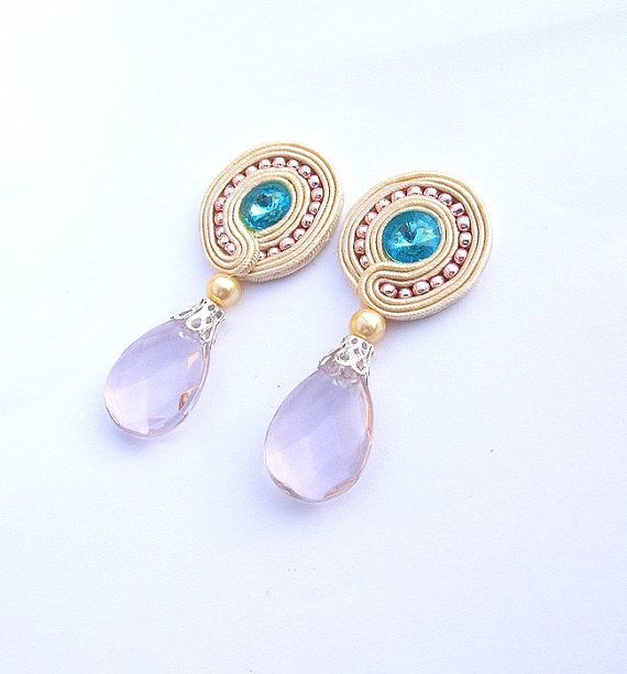 ClipOn Earrings Soutache Earrings Bridal Soutache by StudioGianna, $25.00