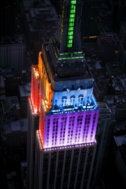 Equality for all! Empire State Building goes rainbow!