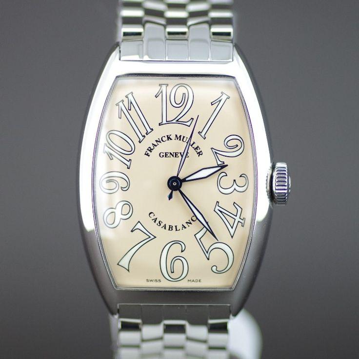 【中古】FRANCK MULLER(フランクミュラー) 5850 カサブランカ オートマチック SS SS ボーイズ メンズ サーモンピンク文字盤時計/フランクミュラーのラインでも1、2番人気のカサブランカです。オーソドックスな三針で非常に使いやすい時計です。ダイアルはピンク(コパー)でどことなくアンティークの様な雰囲気もあり又、肌にも馴染む色合いで上品な感じです。/新品同様・極美品・美品の中古ブランド時計を格安で提供いたします。