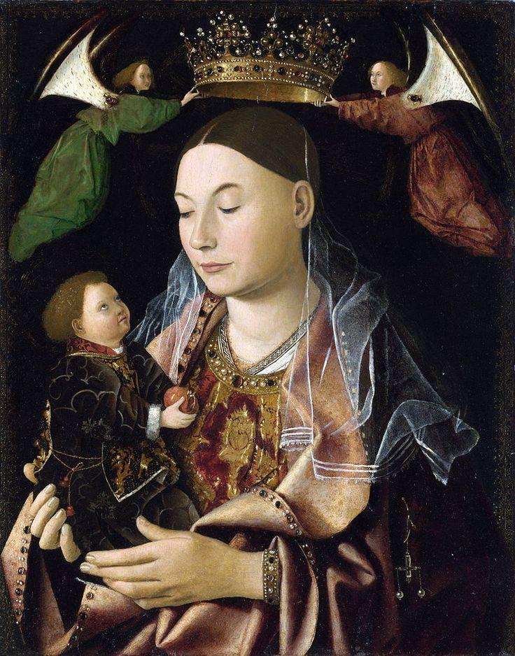 Antonello_da_messina,_madonna_saltingок. 1460-69.jpg Мадонна с Младенцем, ок. 1460-1469.