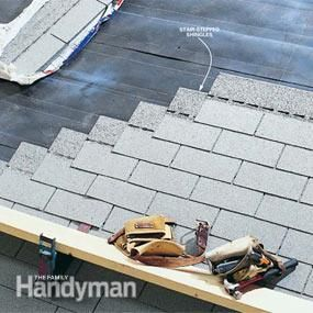 Stair-Stepping VS Staggering Roof Shingles When Roofing Your Home