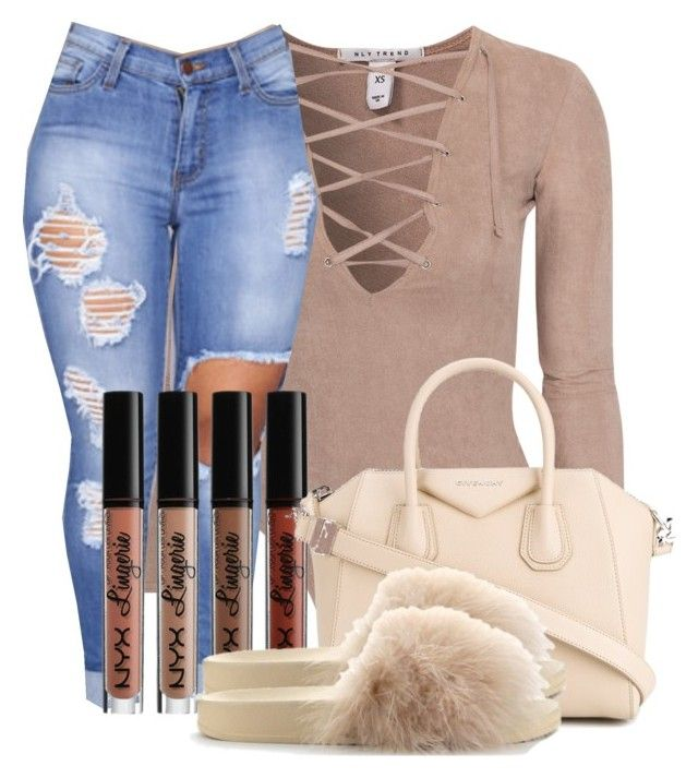 """Untitled #48"" by trillqueen34 ❤ liked on Polyvore featuring NLY Trend, NYX, Givenchy and Furla"