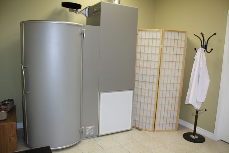 This is what a cryosauna aka cryo chamber looks like. You will be stepping into the cylinder-shaped area on the left. CLICK on the image to read our FAQs to learn more about this safe #health boosting #treatment procedure recommended by #DrOz himself! #cryotherapy #cryosauna #Toronto #sports #clinic #pain #relief