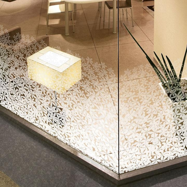 Elevate your space with Baresque 'Frangipani' glass film