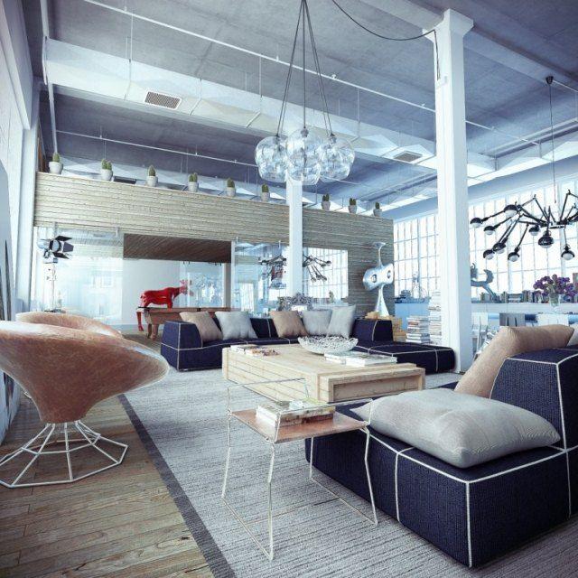 50 Wohnungseinrichtung Ideen - Loft-Wohnung einrichten Loft - einrichtung im industriellen wohnstil ideen loftartiges ambiente