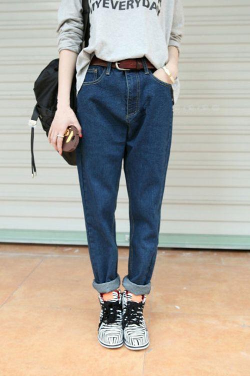 Женские джинсы-бананы (87 фото): с чем носить, с высокой талией, где купить