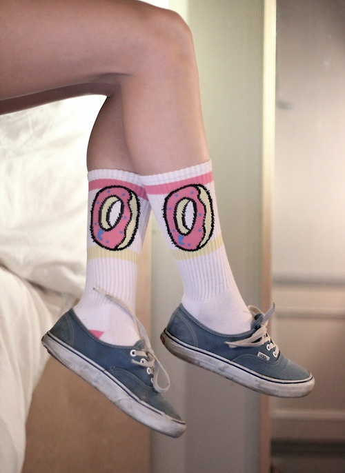 3 pair Hip hop odd future Harajuku skateboard donuts screw mouth socks men&women