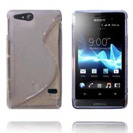 Transparent S-Line (Grå) Sony Xperia Go Deksel