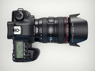 3d Canon 5d MKII camera top view by Mikael Eidenberg