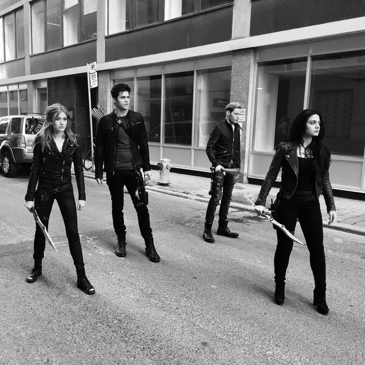 Alec, Jace, Izzy, and Clary.