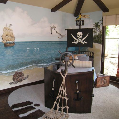 Captn Wills Pirate Ship Bed in Choice of Color from PoshTots