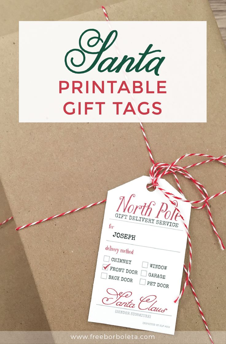 Best 25 santa gift tag ideas on pinterest from santa gift tags add some christmas magic with these free santa gift tag printables for those gifts coming straight negle Choice Image