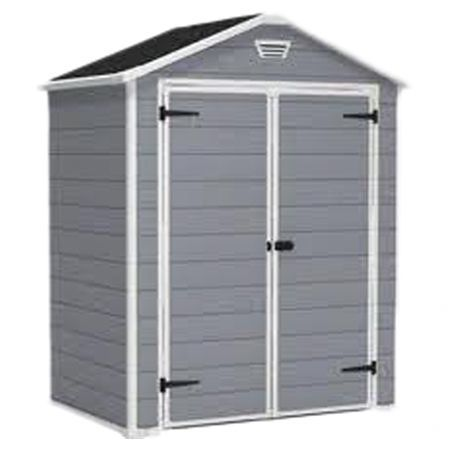 manor 3 ft w x 6 ft d plastic shed