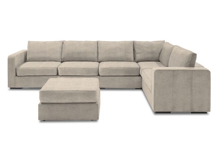 Sofa Pillows L Sectional with Taupe Rhinoplush Covers Bases Sides Lovesac Sactional