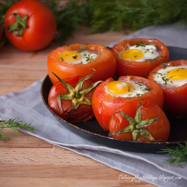 Кулинарный блог 365 дней: Фаршированные помидоры с брокколи и яйцом