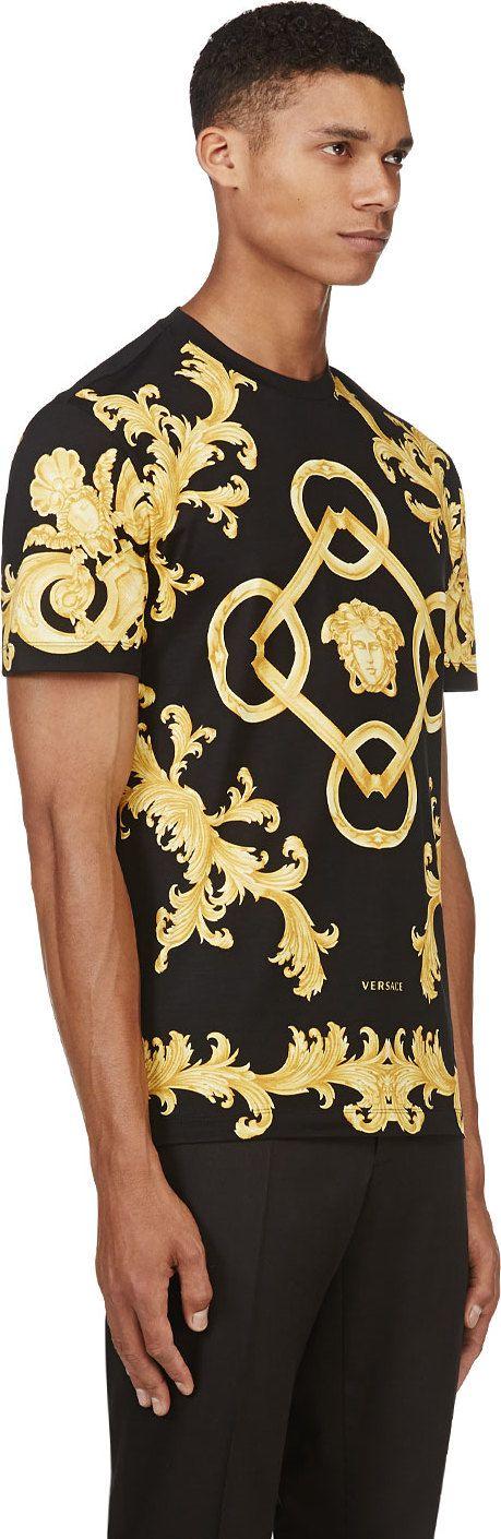 Versace - Black Baroque Medusa T-Shirt | SSENSE