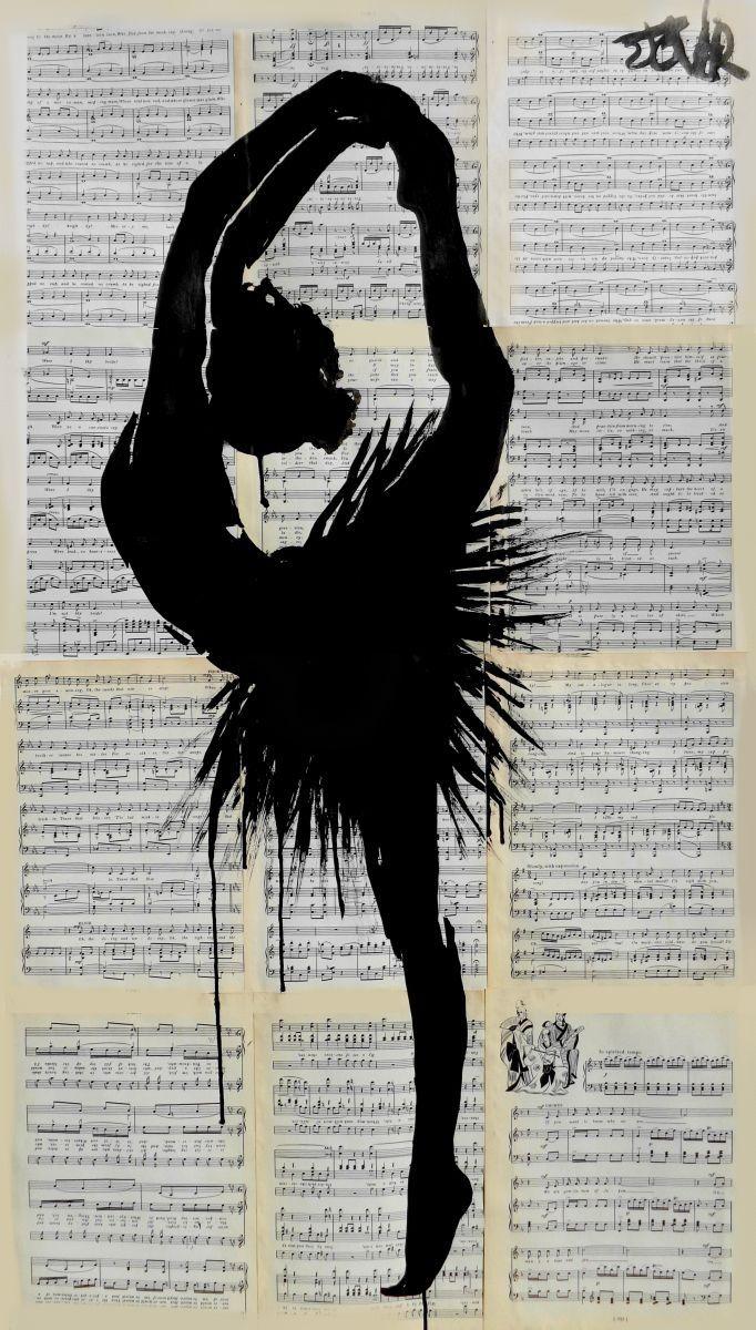 DEMI POINTE, Ink drawing by Loui Jover | Artfinder