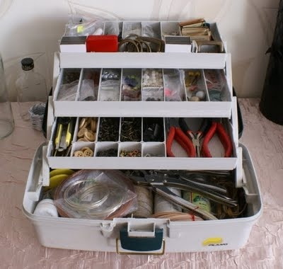 originally for fishing stuff, but why not to store craft tools in it?That's what I did :)