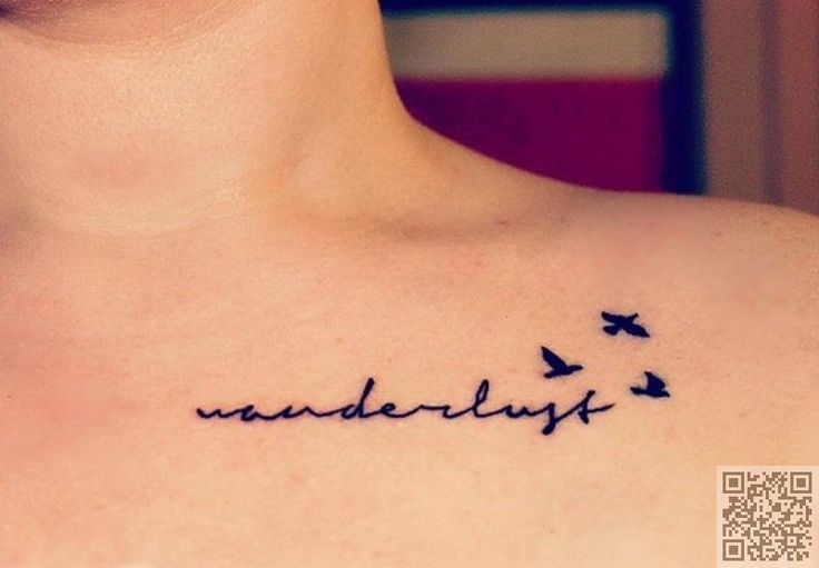 22. #Wanderlust - 34 of the Best Word Tattoos You'll Ever See ... → #Beauty #Tattoos