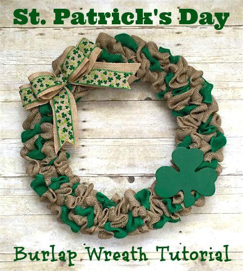 St Patricks Burlap Wreath Tutorial