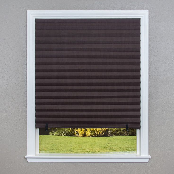 Achim Home Furnishings 1 2 3 Vinyl Room Darkening Temporary Pleated Window Shade 36 By 75 Black Room Darkening Blinds Room Darkening Shades Shades Blinds