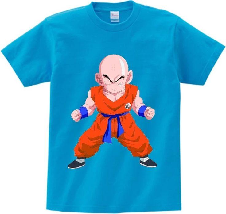 Dragon Ball Z Serious-Faced Fighter Krillin Kids T-Shirt — #kidswear #kidsclot…