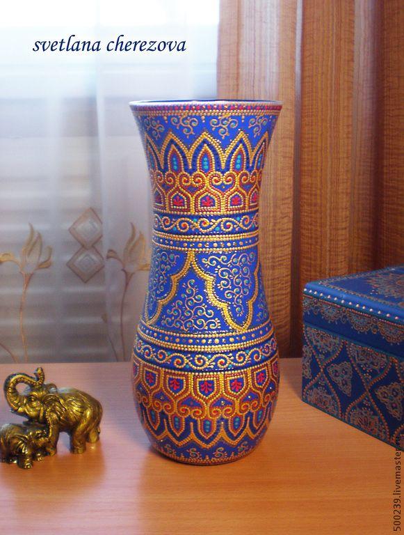 """Купить Ваза """"Персия"""" - разноцветный, ваза, ваза для цветов, ваза декоративная, ваза для сухоцветов"""