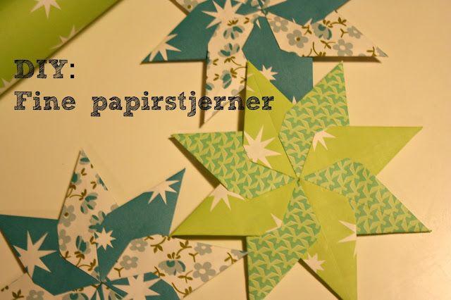 Fine papirstjerner ✰ DIY