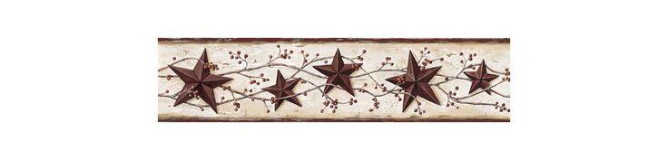 Brewster FFR65363B Ruby Heritage Tin Star Border Wallpaper Ruby Tin Star Home Decor Wallpaper Borders